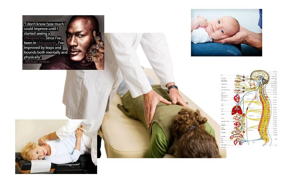 illustrazione manipolazione e benefici della chiropratica