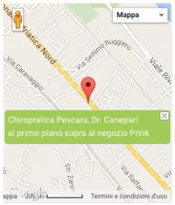 immagine ubicazione studio Dr. Canepari chiropratico